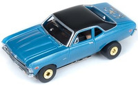 Auto World ThunderJets Ultra-G R9 '70 Chevy Nova Slot Car - Blue