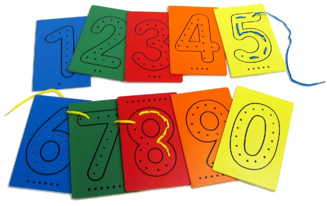 Fun Factory - Lacing Numbers 10 Piece image