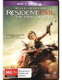 Resident Evil: The Final Chapter on DVD image