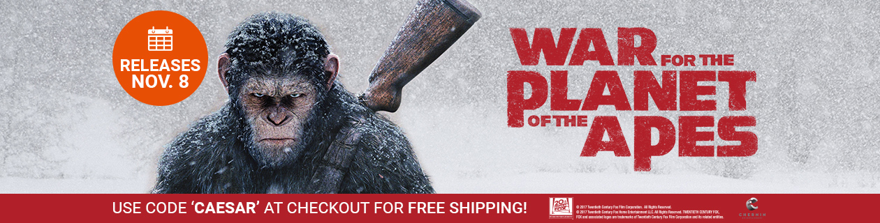 War of the Planet of the Apes: Free Shipping