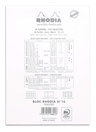 Bloc Rhodia White A5 - Lined image