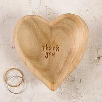 Natural Life: Wood Heart - Thank You