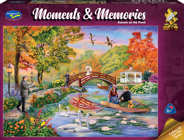 Holdson: 1000 Piece Puzzle - Moments & Memories (Autumn on the Pond)