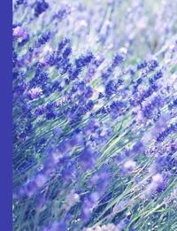 Lovely Field of Lavender Flowers Blank Notebook Journal by Ahri's Notebooks & Journals