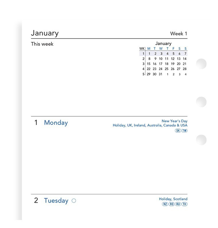 Filofax: Personal 2020 Refill - Week on Two Pages (Unlined) image