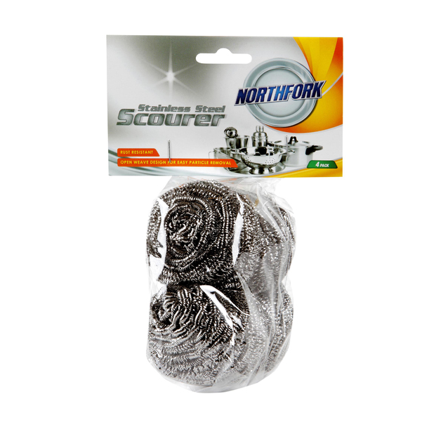 Northfork Stainless Steel Scourer - Pack of 4