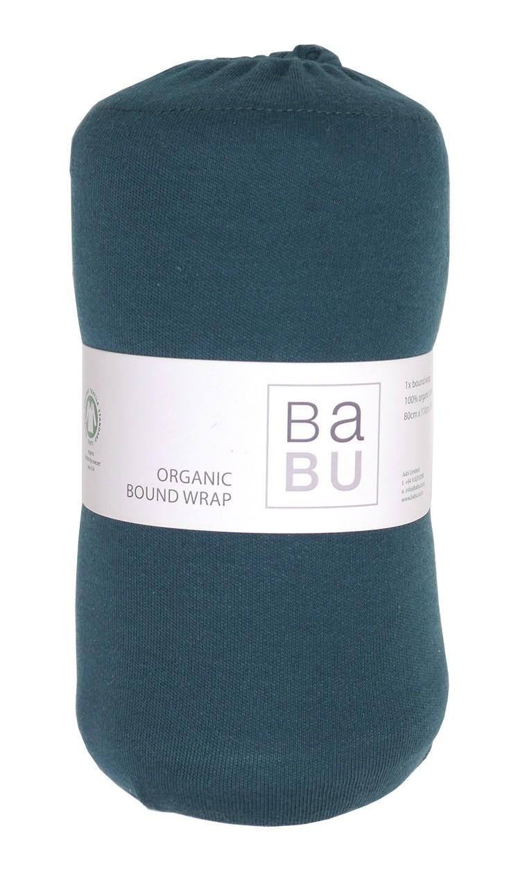 Babu: Organic Cotton Bound Wrap - (Tui Green) image
