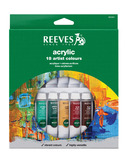 Reeves Acrylic Colour Paints - Set of 18