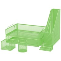 FM 6 Piece Mesh Desk Set - Green