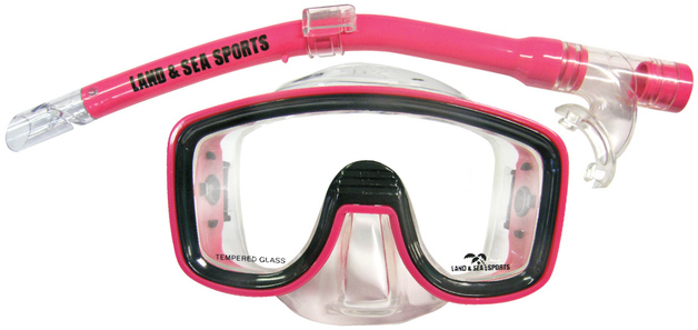 Land & Sea Lagoon Mask and Snorkel Set - Junior Fit (Pink)