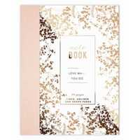 Papaya: Cloth Bound Notebook - Foiled Flowers