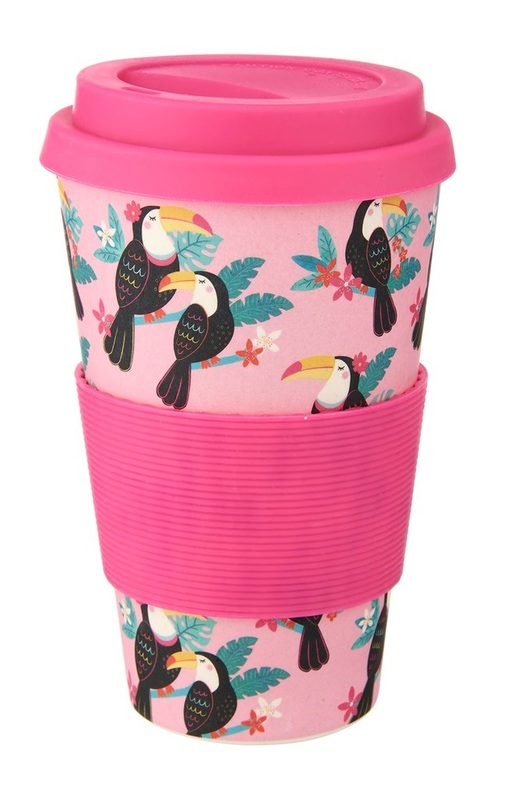 Sass & Belle: Tiki Toucan Bamboo - Coffee Cup (400ml)