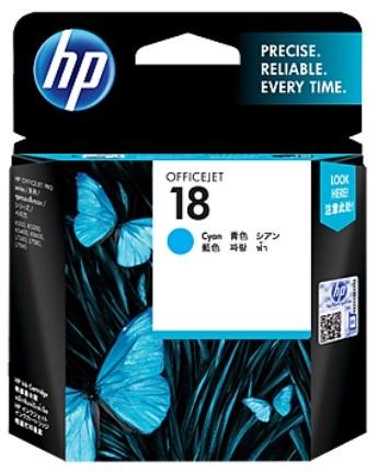 HP 18 Ink Cartridge C4937A (Cyan)