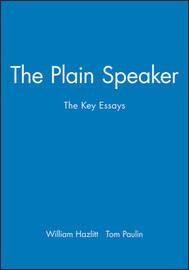 The Plain Speaker by William Hazlitt image