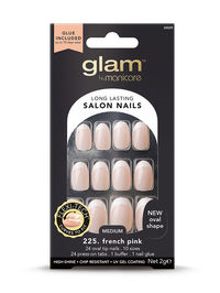Glam by Manicare - French Beige Oval Glue-On Nails (2g)