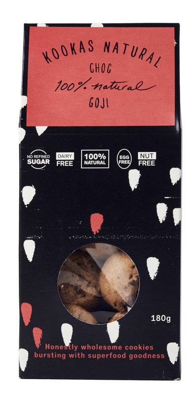 Franjos Kitchen: Kooka's Natural Biscuits – Choc Goji (180g)