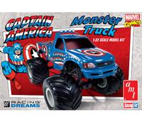 AMT Captain America Ford F-150 Monster Truck 1/32 Snap Model Kit