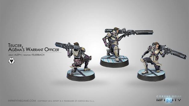 Infinity: Teucer, Agema's Warrant Officer (Feuerbach)