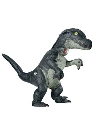 Velociraptor Blue Inflatable with Sound