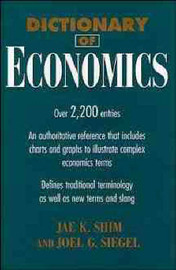 Dictionary of Economics by Jae K Shim image