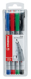 Stabilo OHPen Universal Fine Soluble Pens Assorted Set of 4