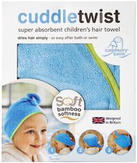 Cuddletwist Bamboo Hair Towel - Blue