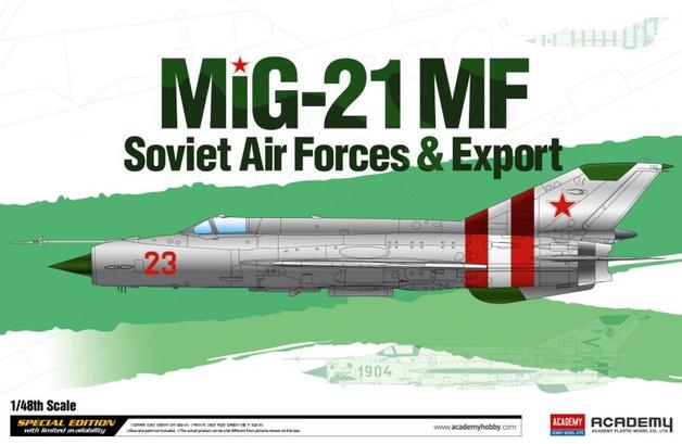 Academy MIG 21 MF Soviet Airforce & Export 1/48 Model Kit