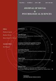Journal of Social & Psychological Sciences by Syed Nadeem Hussain image
