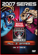 NRL - State Of Origin: 2007 Series - All 3 Games (3 Disc Set) on DVD