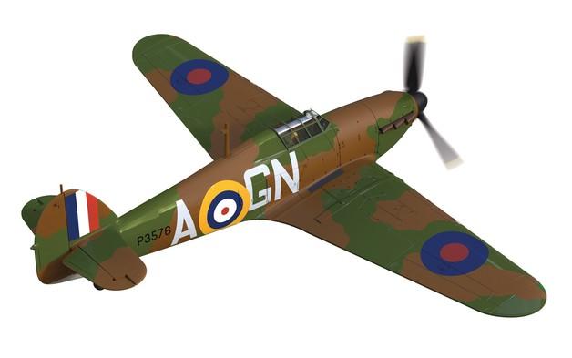 Corgi: 1/72 Hawker Hurricane Mk.I 'Nicholson' - Diecast Model