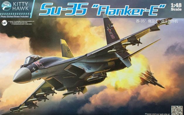 """Kitty Hawk - 1/48 Su-35 """"Flanker-E"""" - Model Kit"""