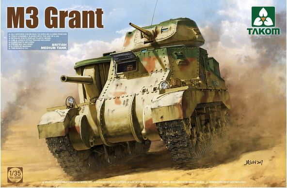 Takom 1/35 British M3 Grant Medium Tank Model Kit image