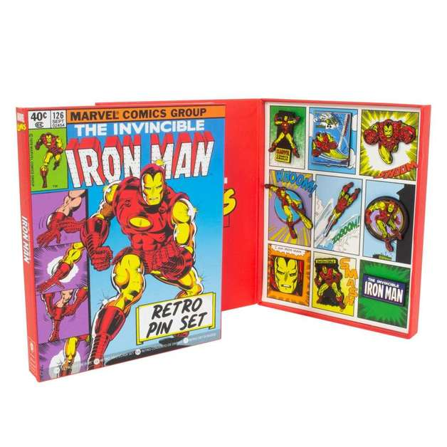 Marvel: Iron-Man - Retro Pin Set