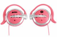 Moki Clip On Earphones - Pink
