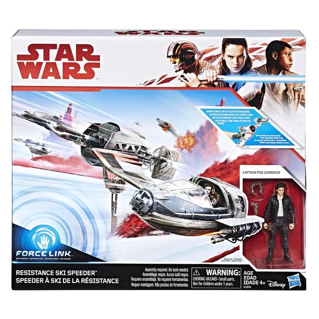 Star Wars: Force Link Figure - Poe Dameron & Ski Speeder 2 Pack
