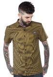 Kustom Kreeps: Mustard Check - Button Down Shirt (Large)