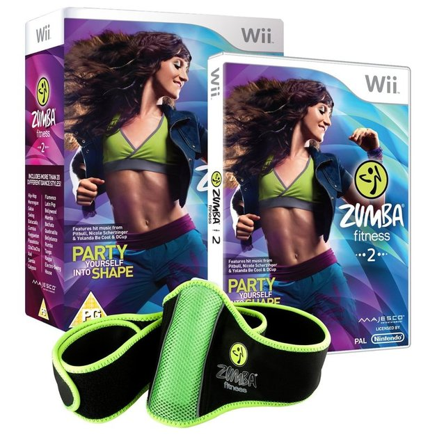 Zumba Fitness 2 + Fitness Belt for Nintendo Wii