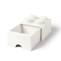 LEGO Storage Brick Drawer 4 (White)