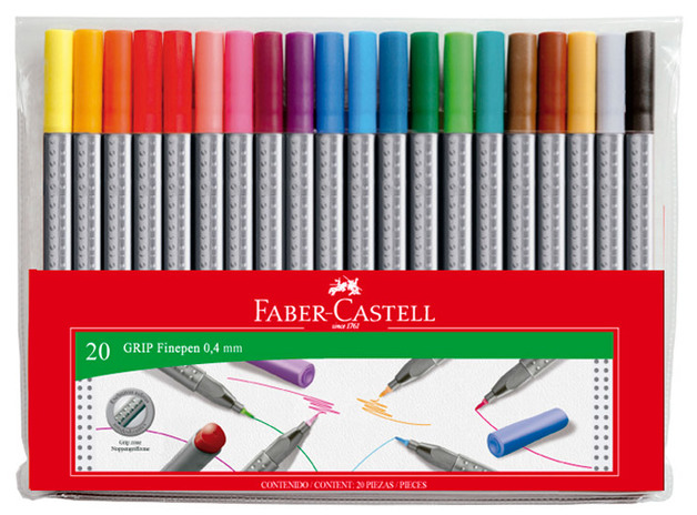 Faber-Castell: Grip Finepen (Wallet of 20)