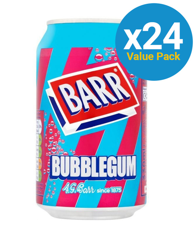 BARR Bubblegum 330ml (24 Pack)