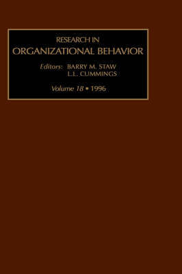 Research in Organizational Behaviour: v. 18 image