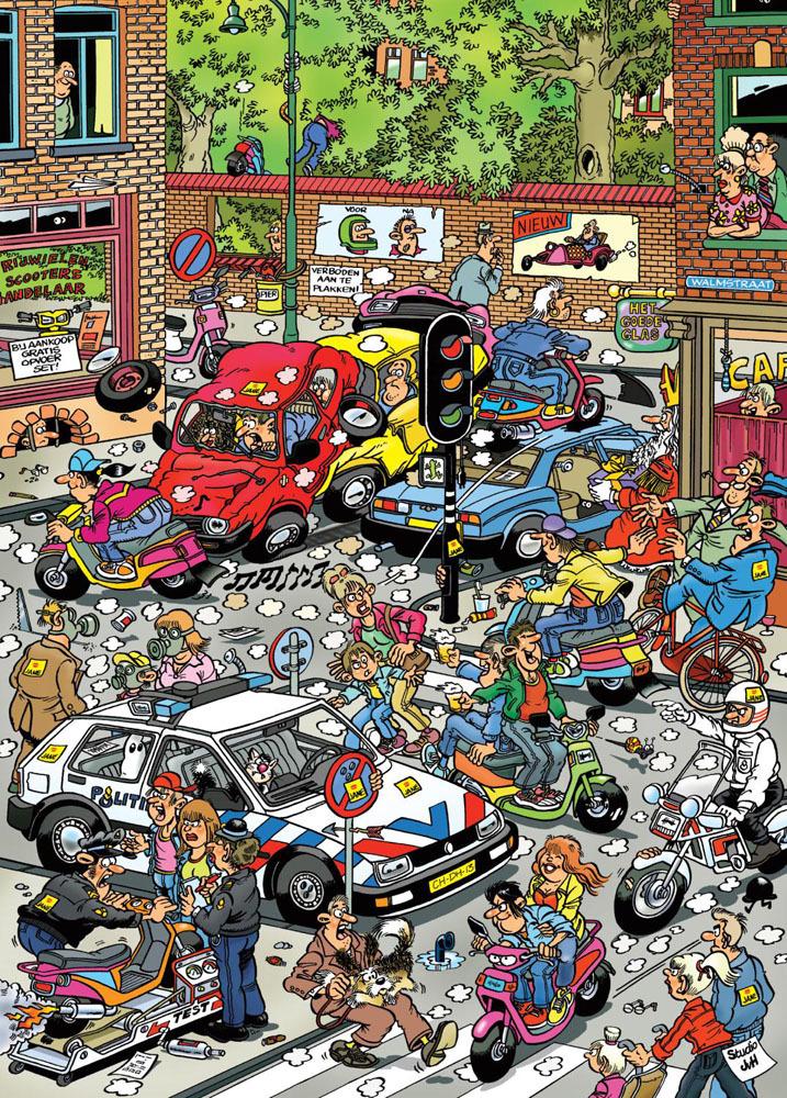 Van Haasteren: Scooter Scramble - 1000 Piece Puzzle image