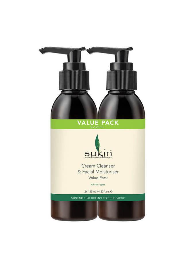 Sukin: Facial Cleanser + Moisturiser VALUE PACK (2 x 125ml) image