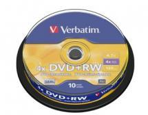 Verbatim DVD+RW 4.7GB 10Pk Spindle 4x image