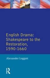 English Drama by Alexander Leggatt image