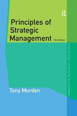 Principles of Strategic Management by Tony Morden image