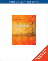 Research Methods by Donald McBurney image