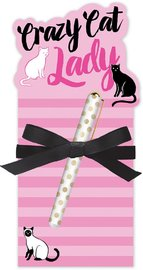 Lady Jayne: Die Cut Notepad - Crazy Cat Lady
