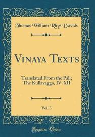 Vinaya Texts, Vol. 3 by Thomas William Rhys Davids image