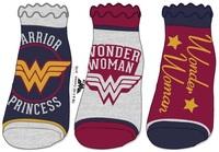 DC Comics: Wonder Woman - Jrs Ankle Socks Set (3-Pack)